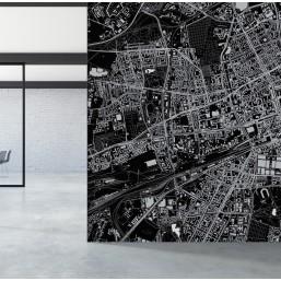 Wola - fototapeta z mapą dzielnicy