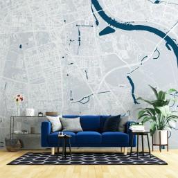 Mokotów - tapeta z mapą dzielnicy