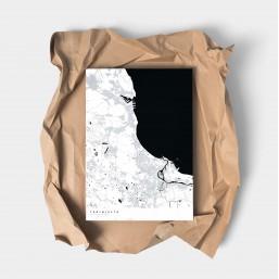 Trójmiasto - plakat z mapą Trójmiasta